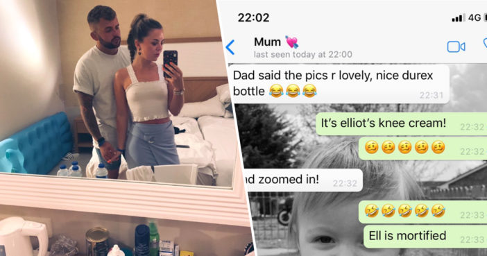 Girl Sends Parents Holiday Selfie But Forgets To Crop Out Durex Bottle