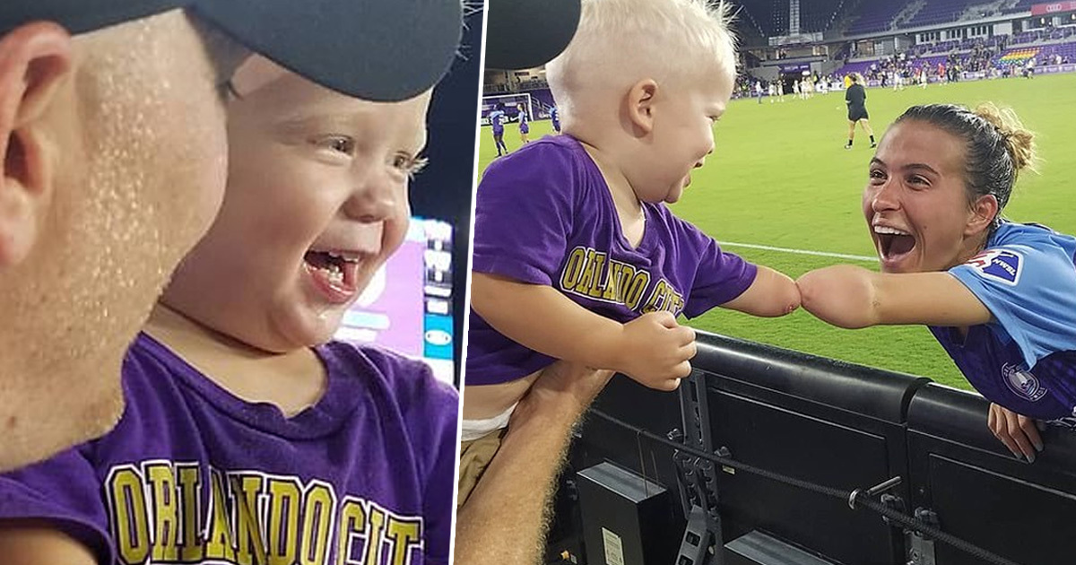 Toddler Born Without Hand Gets To Fist Bump Football Star With Same Condition