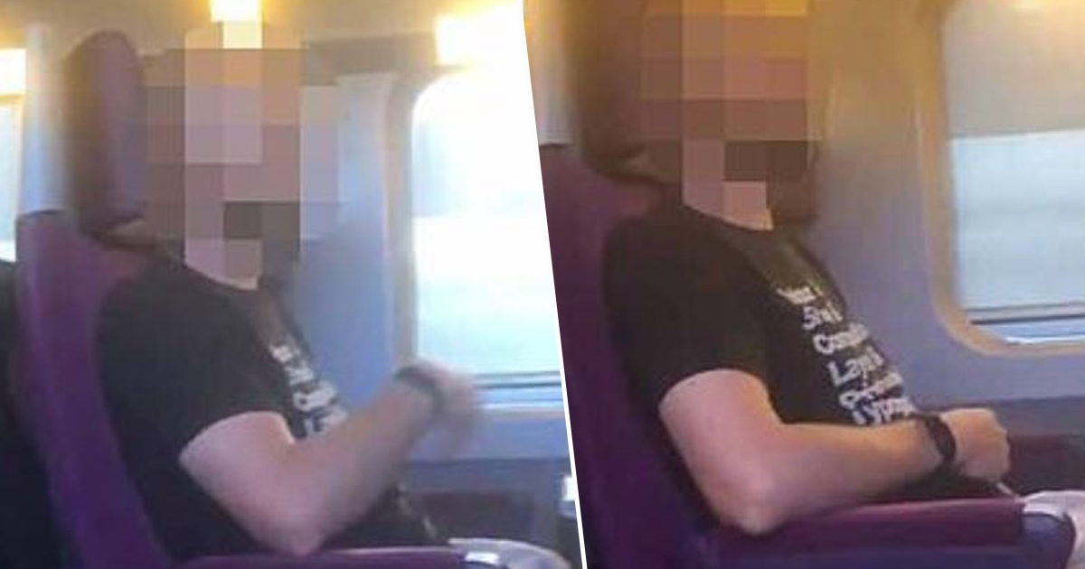 man allegedly 'masturbating' on train
