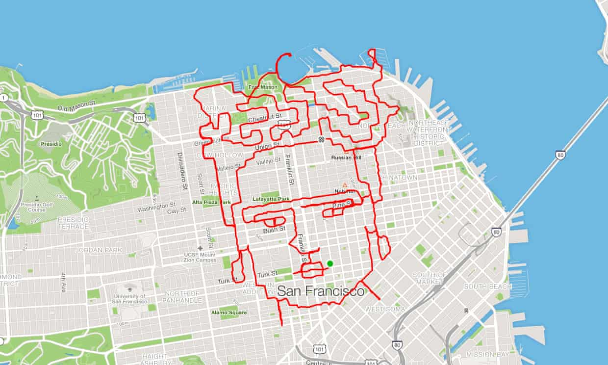 Runner Creates Incredible Artwork With His Feet And Running App