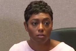 Woman says she was told to give up her table for two black men