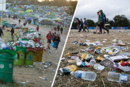 Plastic at Glastonbury