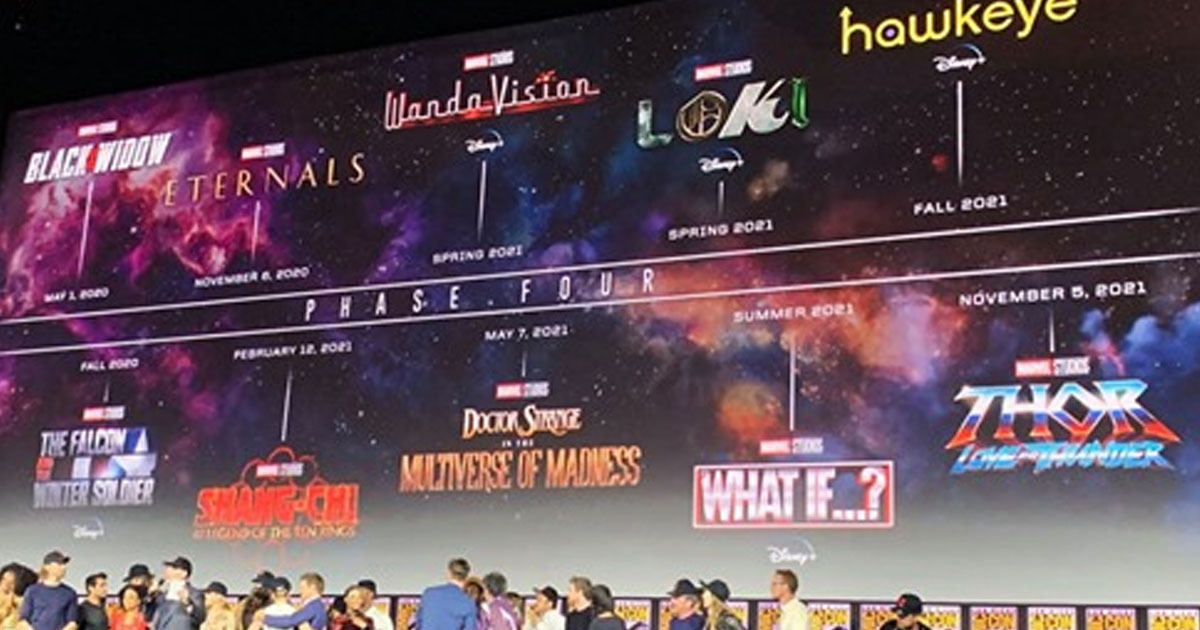 Marvel Unveil Complete Lineup For Phase 4