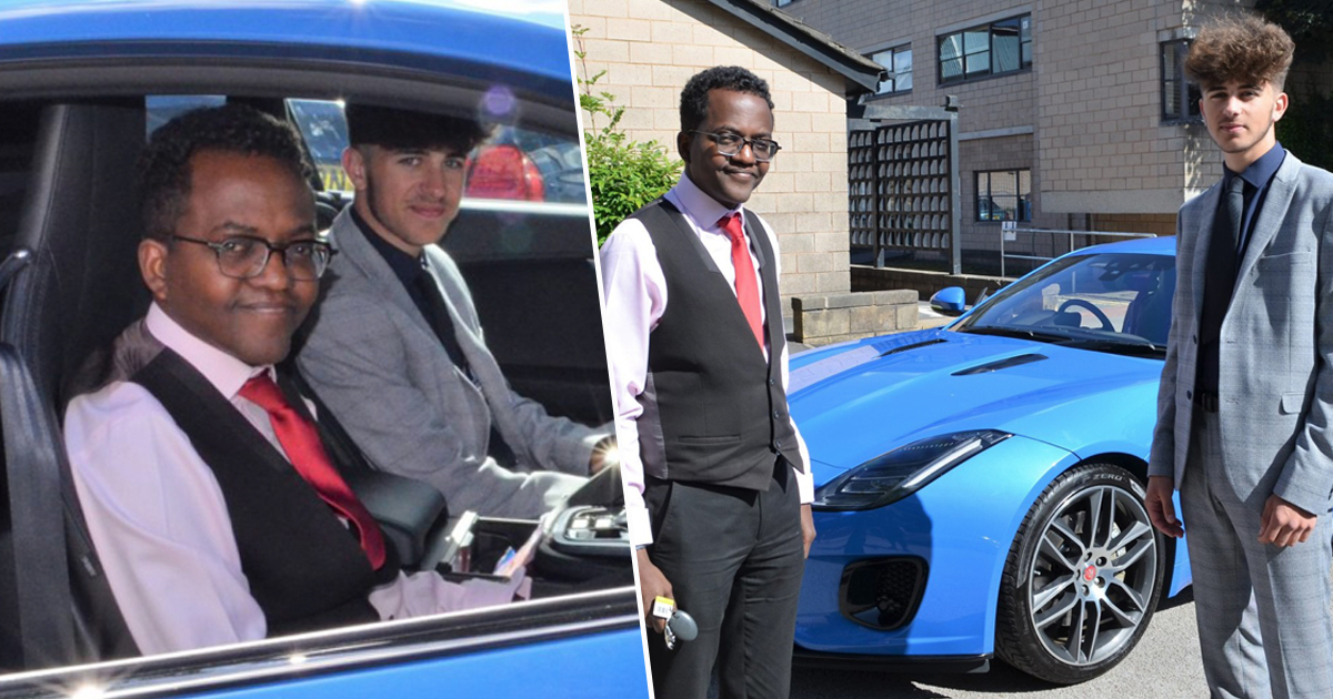 Guy Puts Note On F-Type Jaguar Asking For Life To Prom And Owner Agrees