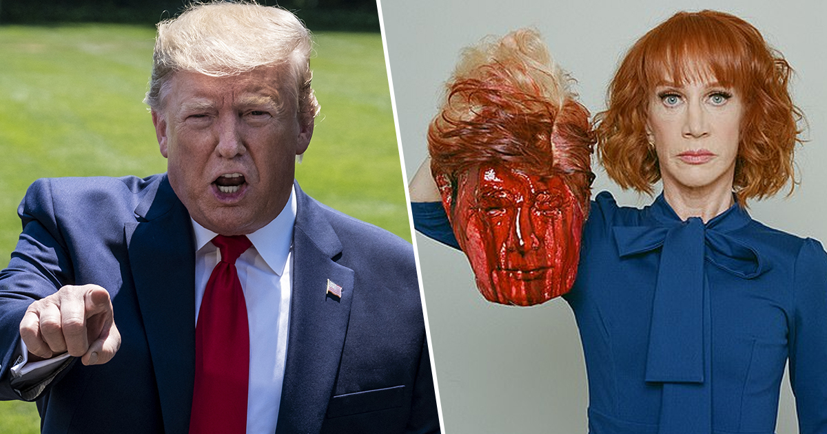 Kathy Griffin says she can't find work after sharing photo of Trump's head