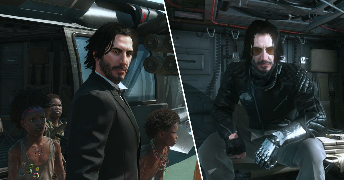 Keanu Reeves' Johnny Silverhand And John Wick Now Playable In Metal Gear Solid V