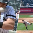Yankees Batter Takes 91 Mph Fastball To Face, Carries On Playing
