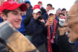 maga teen at demonstration