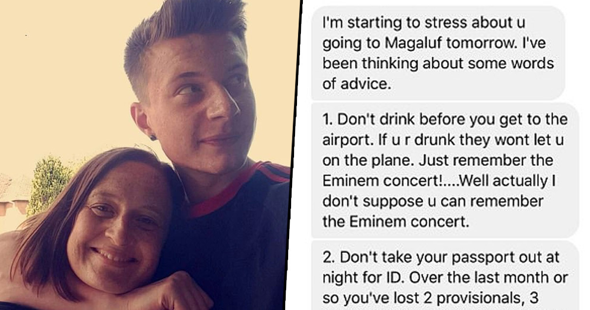 Mum Sends Son Away With List Of Rules For Lads Holiday In Magaluf