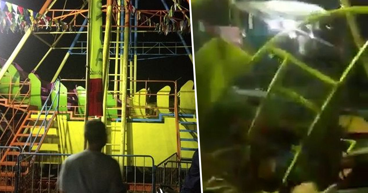 One dead and three injured after fairground ride crashes