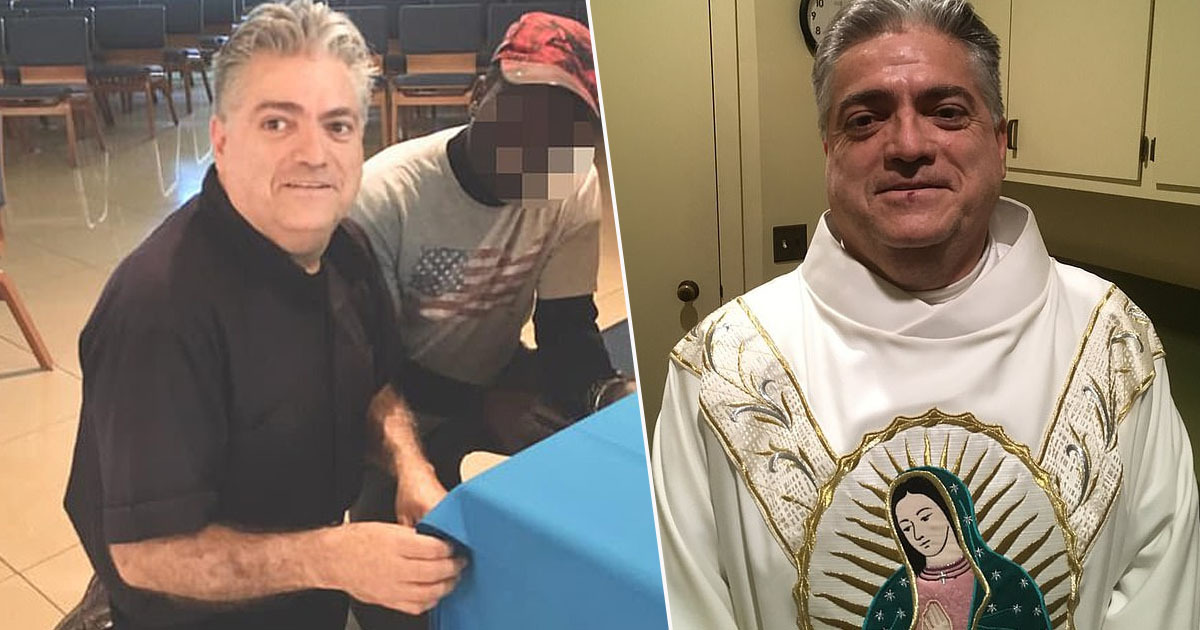 father oscar diaz, who was found to have stolen almost $100,000 from the church