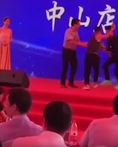 simon yam stabbed onstage