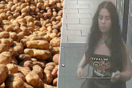 Woman accused of peeing on potatoes hands herself in
