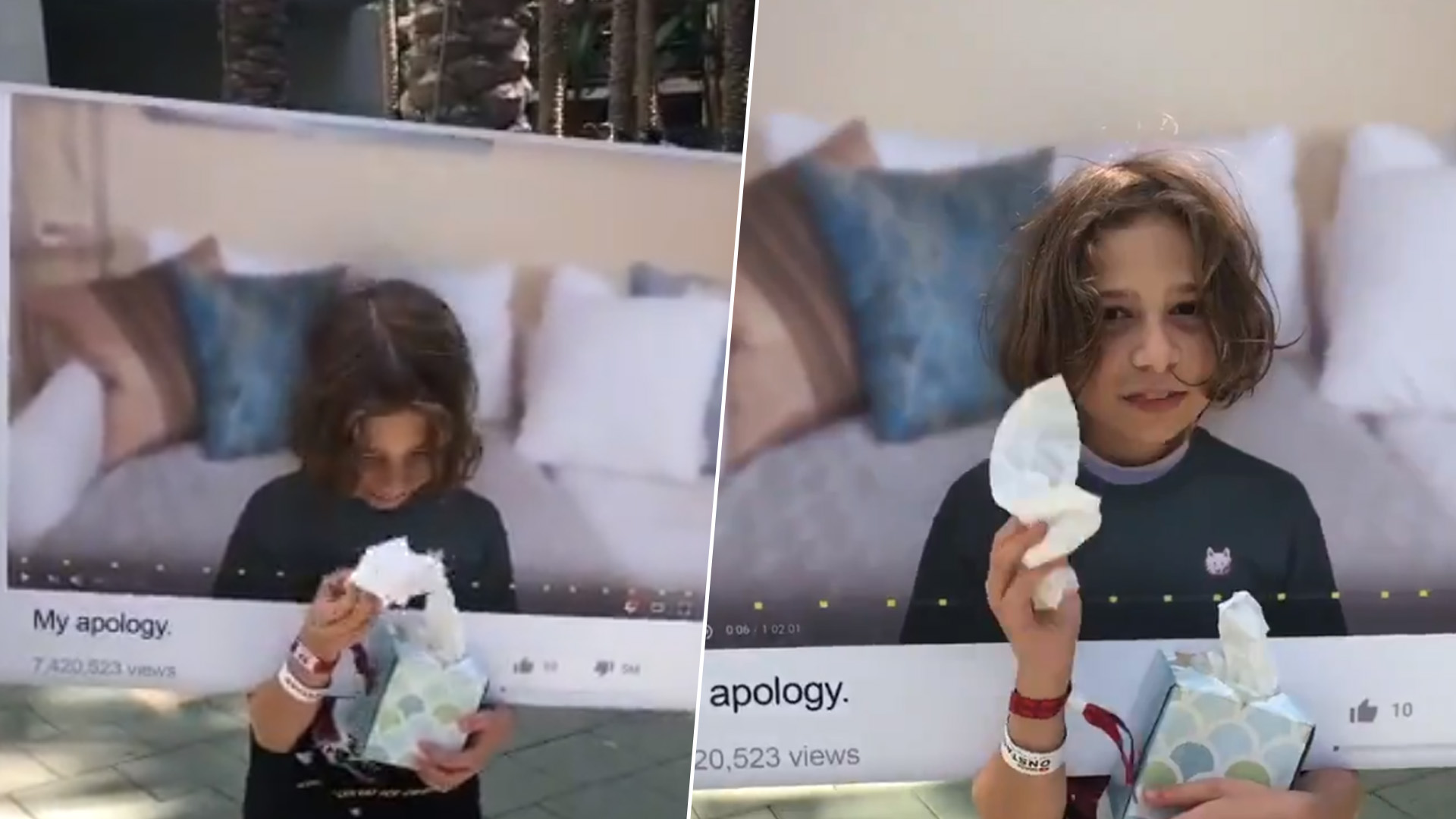 kid dressed as youtube apology video for vidcon