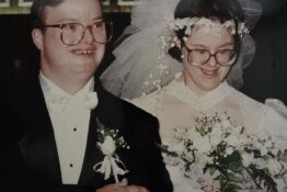 Widow with Down's syndrome pays tribute to husband of 25 years