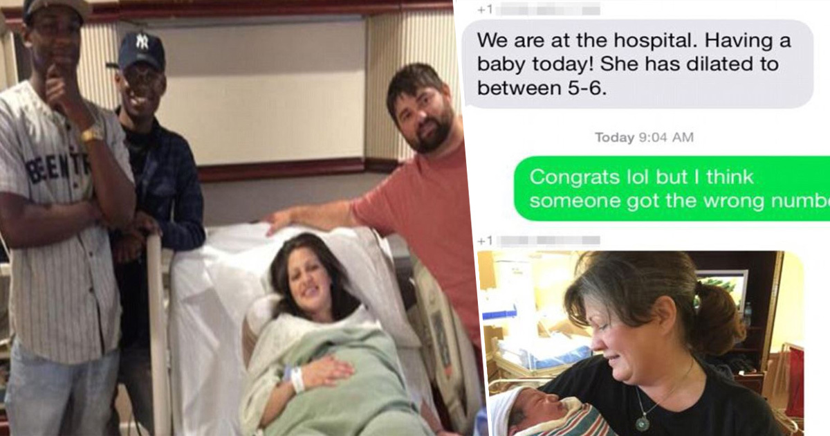 Family Accidentally Texts Baby News To Strangers, They Turn Up To Visit