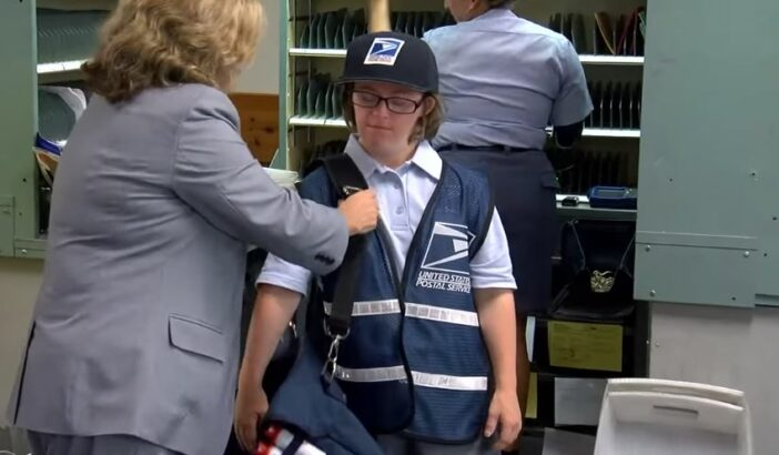 Mail Carrier Down's Syndrome Grace Flannery Cincinnati Ohio,