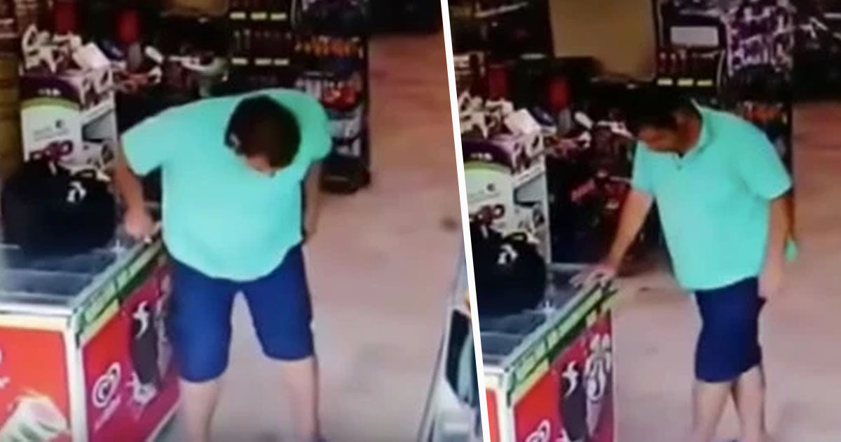 Guy Poos Himself While Shopping, Fails Miserably At Covering The Evidence