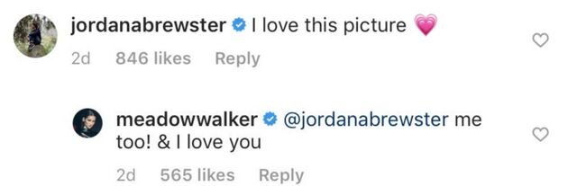 Meadow Walker instagram comments