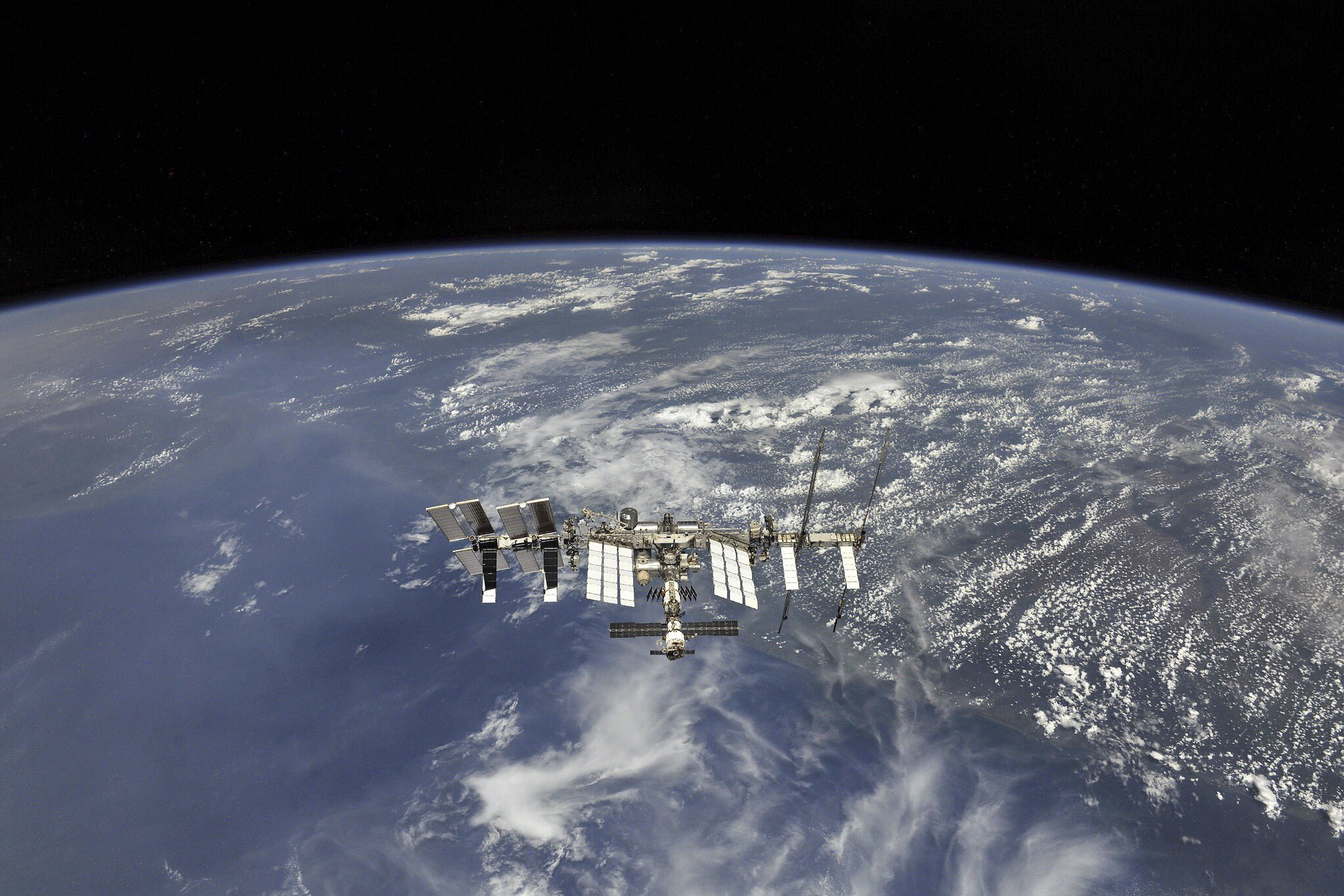 International Space Station in Earth Orbit