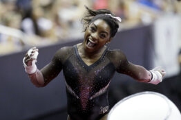 Simone Biles Becomes First Female Gymnast To Land A Triple Double