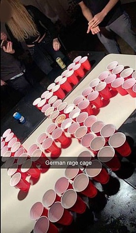 Swastika beer pong Orange County