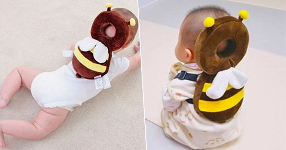 These Animal Shaped Backpacks Protect Babies' Heads If They Fall Over