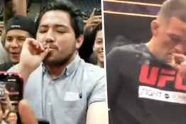 nate diaz smoking joint