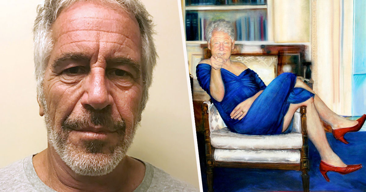 Jeffrey Epstein Had Picture Of Bill Clinton In Blue Dress And Heels At His 'Paedophile Mansion'