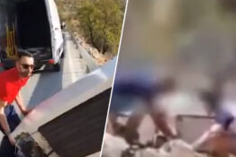 Man Throws Fridge Off Cliff And Police Make Him Drag It Back Up As Punishment
