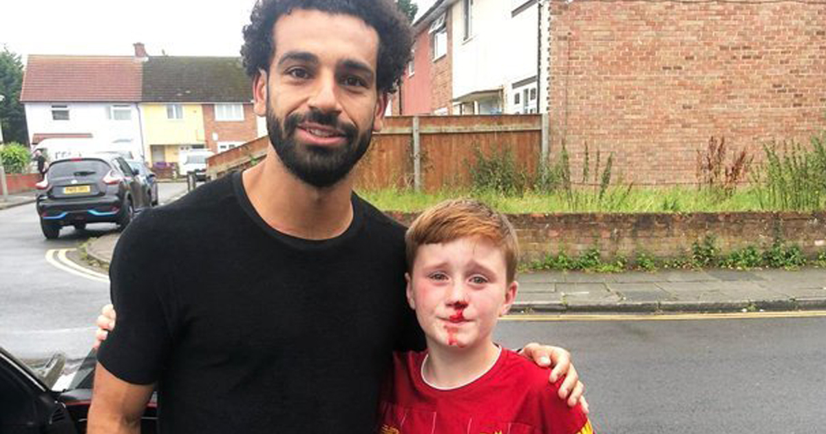 11-Year-Old Liverpool Fan Running After Mo Salah Knocks Himself Out On Lamp-Post