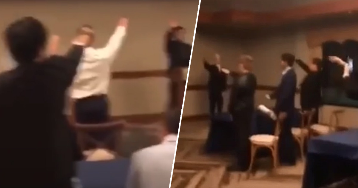 Students Filmed Performing Hitler Salute And Singing Nazi Songs At Awards Ceremony