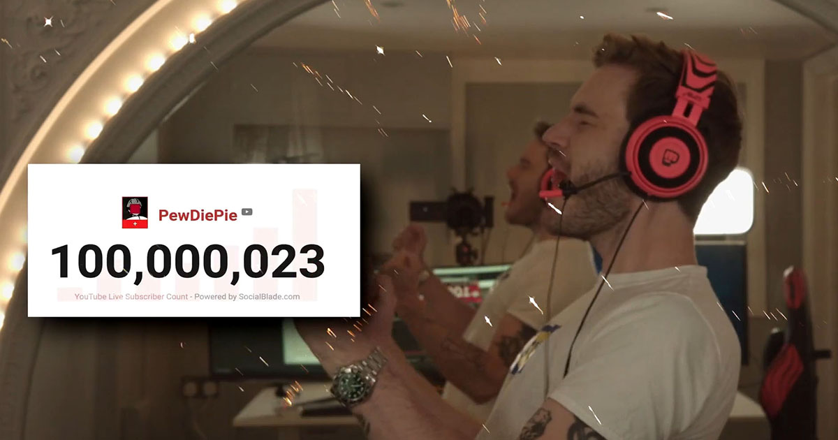 PewDiePie Reaches Over 100 Million Subscribers