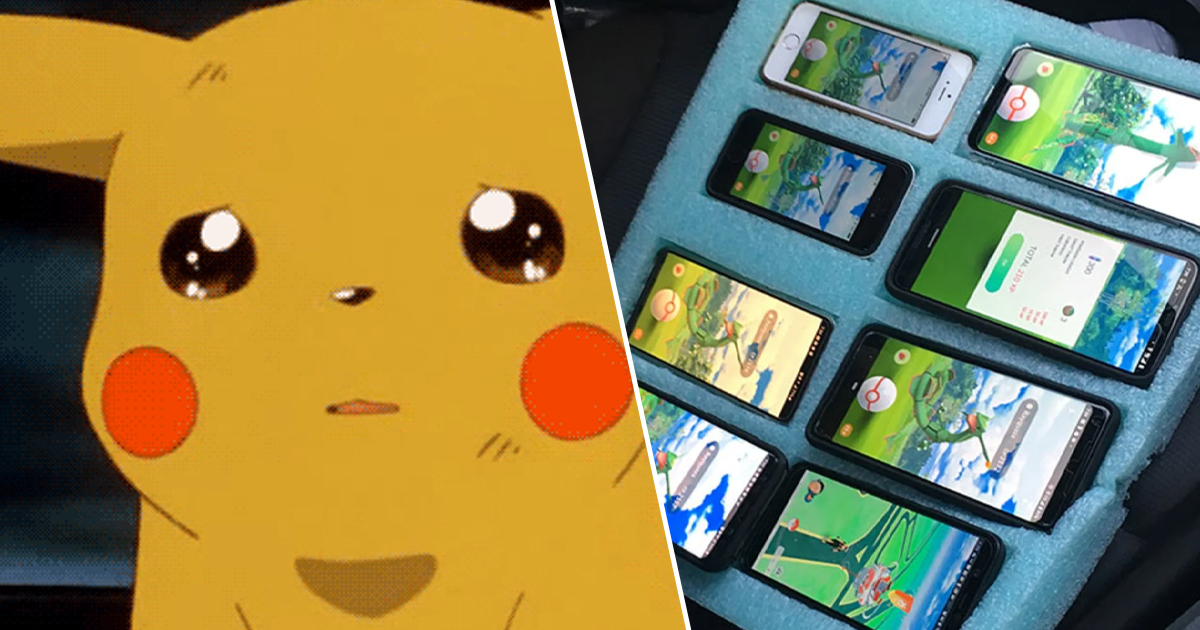 Pokemon GO Player Caught Playing On Eight Phones In His Car