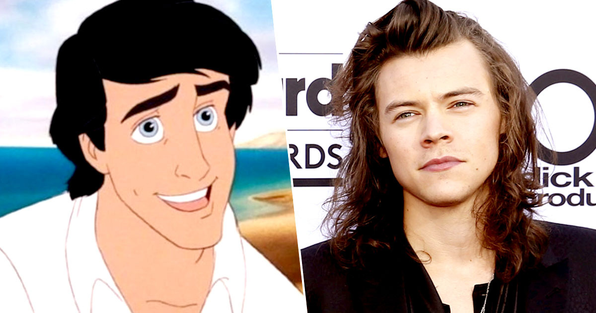 harry styles prince eric little mermaid