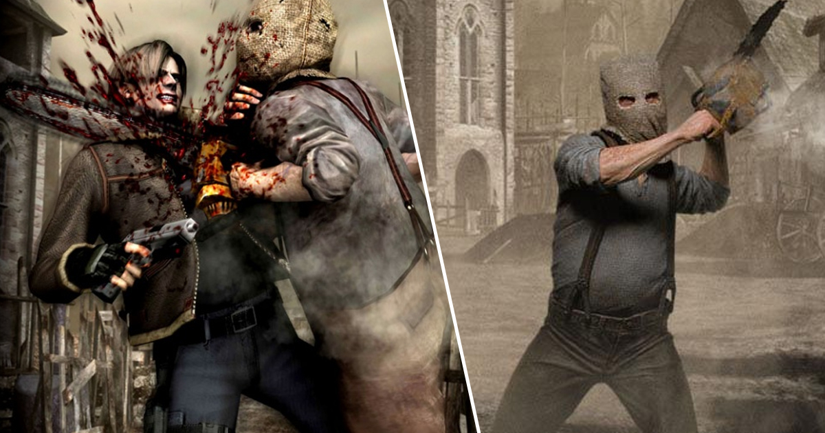 Resident Evil 4 Player Kills Chainsaw Guy Using... A Door