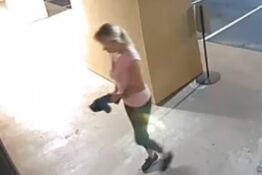 Woman uses power saw to break into spa