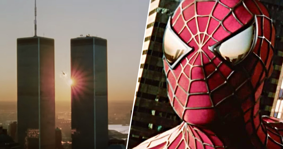 Spider-man twin tower nyc new york world trade center new