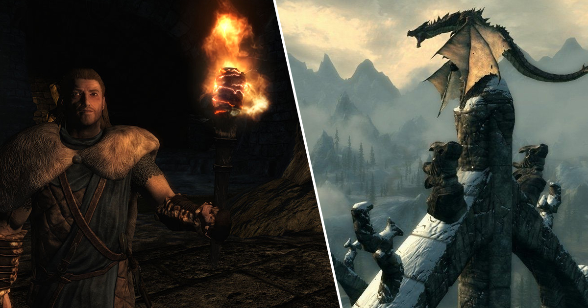 Skyrim Player Beats Game Using Only A Torch