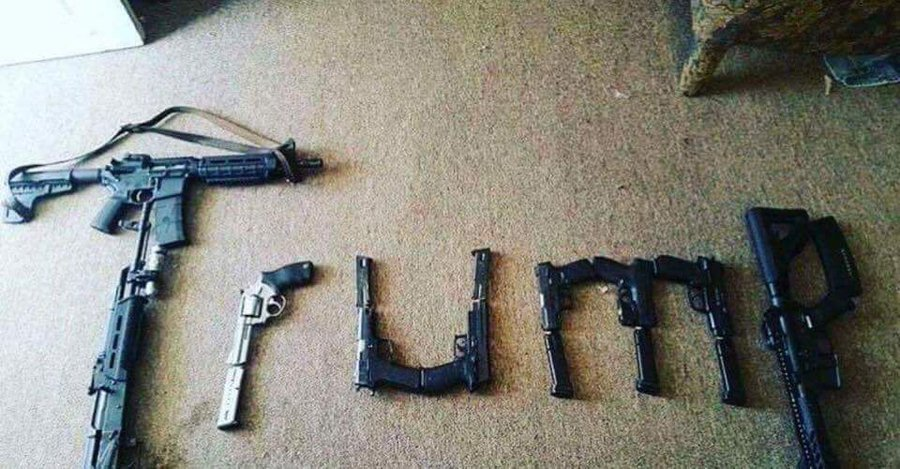 Photo pf Trump spelled out in guns found liked by Twitter account linked to El Paso shooter
