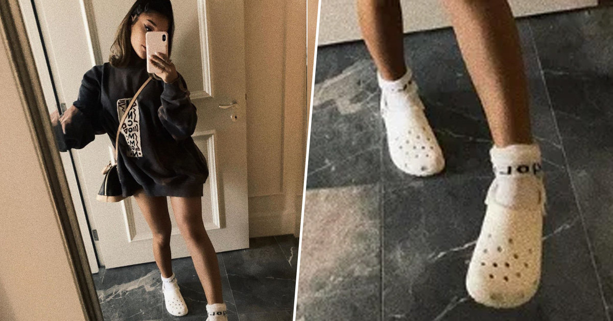 Ariana Grande Posted A Photo Wearing Crocs And Socks And People Love It
