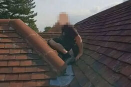 Builder poos on roof