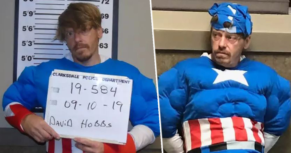 Captain America robs shed