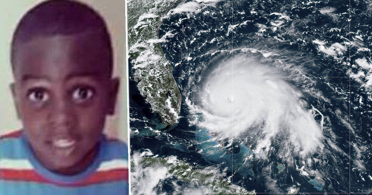 Little boy dies in hurricane