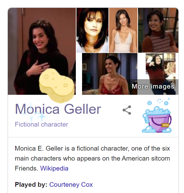 Monica Geller Google Friends Easter Egg