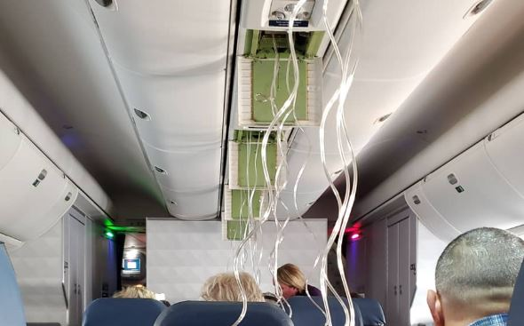 Plane plunges while flying