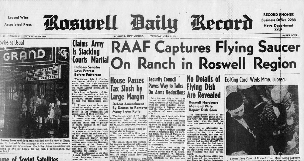 UFO Roswell Daily Record