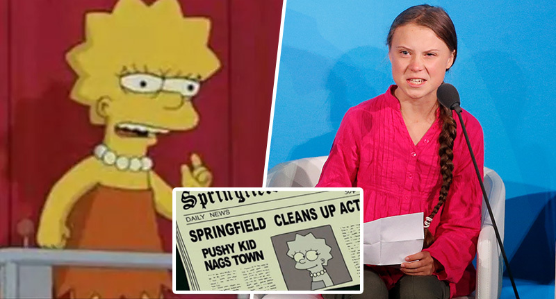 Simpsons predicted Greta Thunberg