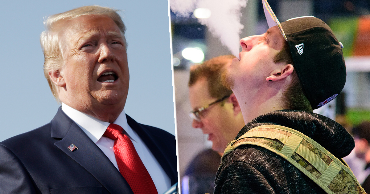 Trump Vaping Thumb