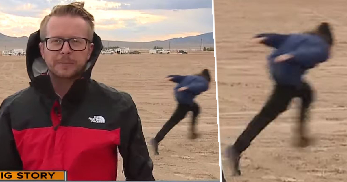First Naruto Runner Spotted Naruto Running At Area 51 Behind Live News Broadcast